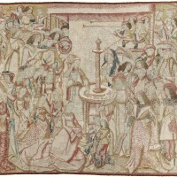 49. a late gothic tapestry, southern netherlands, brussels, 16th century and later