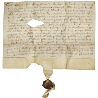 1. a conveyance of land at ashley and silverley, cambridgeshire, in latin; dated at ashley, [wednesday, 20 march 1314]