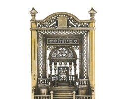 106. a french silver-gilt miniature synagogue interior, early 20th century