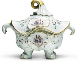 311. an extremely rare chinese export armorial tureen and cover, qing dynasty, qianlong period, 1750-60 |