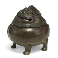 29. a small bronze 'luduan' incense burner 17th century