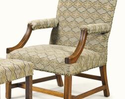 12. a george iii mahogany gainsborough armchair, circa 1760