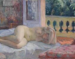 163. henri lebasque | nu couché devant la fenêtre ouverte