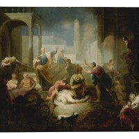 4. johann zick | saint peter healing the sick with his shadow in jerusalem