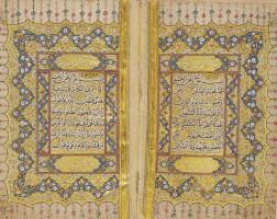 27. an illuminated qur'an, copied by abu bakr ibn suleyman, turkey, ottoman, dated 1107ah/1695-96 ad |