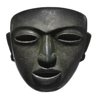43. large teotihuacan stone mask, classic, ca. a.d. 450-650