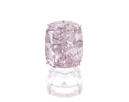 361. 'the raj pink' the world's largest known fancy intense pink diamond magnificent fancy intense pink diamond ring