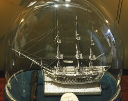 19. napoleonic french prisoner of warbone 98-gun ship model, early 19th century