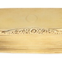 382. a george iii silver-gilt presentation snuff box, maker's mark rubbed, london, 1818