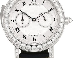165. breguet   reference 3938a white gold and diamond-set minute repeating wristwatch with 24 hours indication, circa 2000