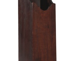 6003. queen anne birchwood pipe box, new england, circa 1780