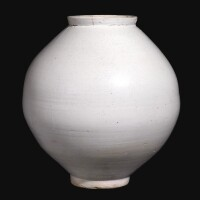 3112. a white-glazed moon jar korea, joseon dynasty, 18th century |