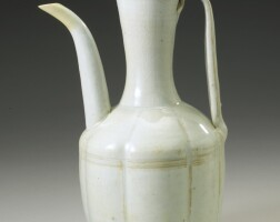 29. a 'qingbai' lobed ewer and cover northern song dynasty