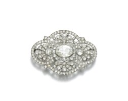 258. diamond brooch, circa 1900