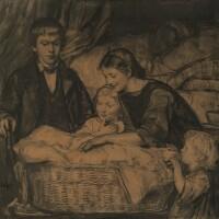 5. albert anker | der neugeborene (kompositionsstudie)