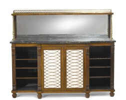 32. a regency brass-mounted rosewood chiffonierattributed to gillows circa 1815