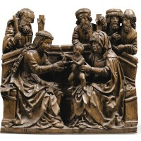 27. southern german, swabia, first quarter 16th centuryrelief with the holy kinship |