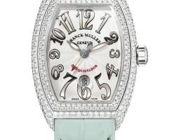 2026. franck muller   white gold and diamond-set wristwatch with dateref 8002 l sc d no 259 conquistador circa 2008