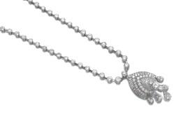 22. diamondpendant, van cleef & arpels, and a diamond necklace