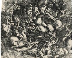 6. domenico campagnola | battle of nude men (bartsch 10; hind 4)