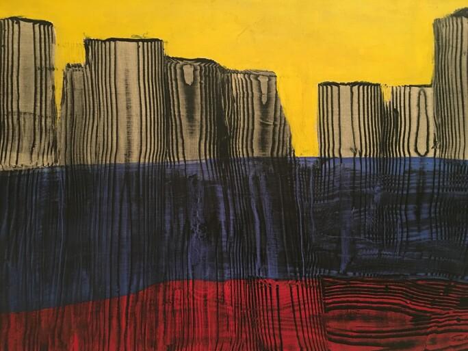 Behjat Sadr, Untitled, circa 1975. Oil on canvas, 80 x 128 cm, Behjat Sadr Estate