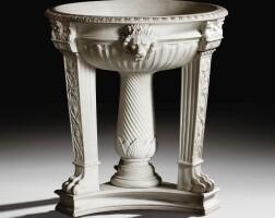 17. a large sèvres biscuit porcelain tripod, first half 19th century |