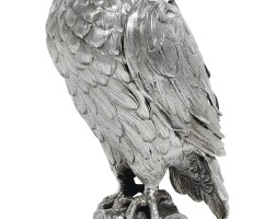 5. a germansilver cup in the form of an exotic bird, unmarked, circa 1900