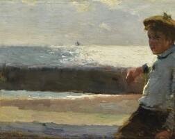 11. walter frederick osborne, r.h.a   seated boy and sea