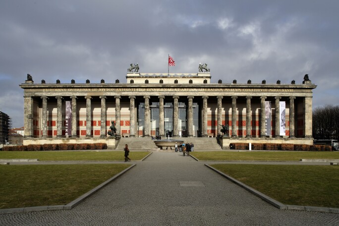 Exterior View, Altes Museum