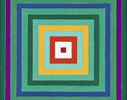 15. frank stella | scramble: descending green values/descending spectrum