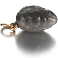 437. a fabergé hardstone egg pendant, workmaster feodor afanassiev, st petersburg, circa 1910
