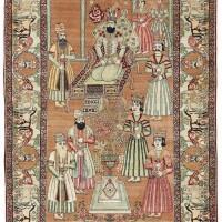 11. a pictorial kirman rug, southeast persia