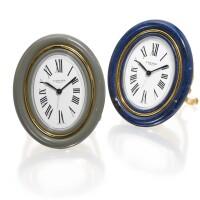 2. pair of cartier bedside clocks