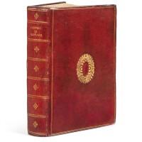 125. ronsard, pierre de. les œuvres... paris, nicolas buon, 1609. in-folio. maroquin rouge de l'époque.