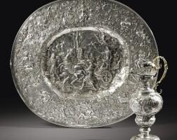 2. aiguière et son bassin en argent et vermeil par marx weinold, augsbourg, vers 1697-1699
