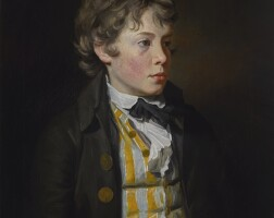 197. sir henry raeburn, r.a.   portrait of aboyin a striped waistcoat