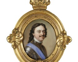 300. charles boit | portrait of peter the great, emperor of russia(1672-1723)