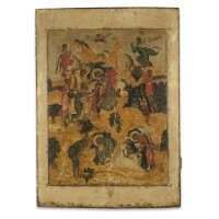 19. a russian icon of the nativity of christ, 17th century