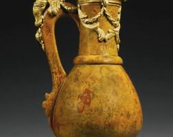 15. a louis xv gilt-bronze-mounted jasper ewer, circa 1740