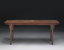 491. a painted andincised red lacquer recessed-leg table ming dynasty, 17th century