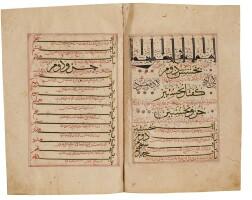 9. zayn al-din jurjani (d.1136 ad), zakhirah-yi khwarazmshahi ('treasury dedicated to the king of khwarazmshahi'), an encyclopaedia of medical science, books i (part ii), ii and iii, signed bymuhammad ibn al-husain abi'l-qasim, transoxiana, chaghatayid, dated 666-7 ah/1267-68 ad