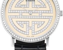 161. piaget   altiplano, reference p10763 a white gold and diamond-set wristwatch, circa 2010