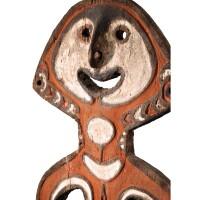 60. exceptionnelle statue masculine, bioma, peuple urama, village de kinomere ou de havasea, golfe de papouasie, papouasie nouvelle-guinée