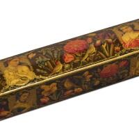 49. a lacquer penbox, persia, qajar, 19th century  