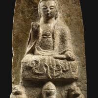 3040. a huanghuashi figure of buddha northern zhou dynasty  
