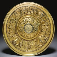4. a silver-gilt salver on later base, spanish or portuguese, mid-16th century