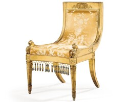 4. a carved giltwood chair, italian, probably lucca, early 19th century