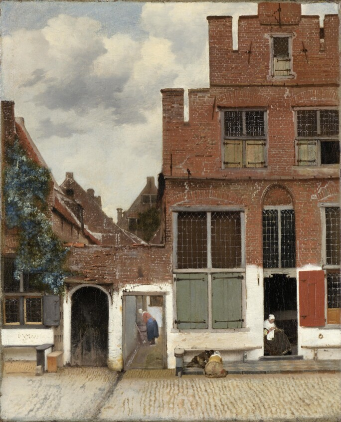 Johannes Vermeer, View of houses in Delft