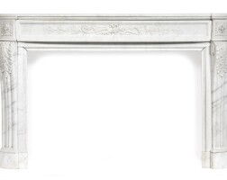 268. a louis xvi style carved white marble chimneypiece, 19th century