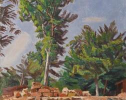 9. alexandre blanchet | paysage de ruines avec des arbres